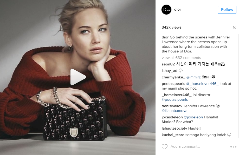 jennifer-lawrence-dior-instagram-smm